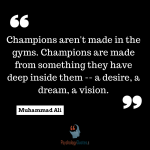 sports psychology quotes -Muhammad Ali