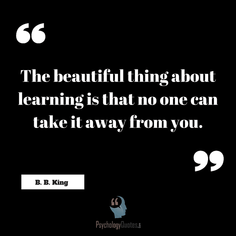 The beautiful thing about learning is that no one can take it away from you. #TeachingQuotes #EducationQuotes #Education #LearningQuotes