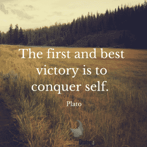 The first and best victory is to conquer self. Plato